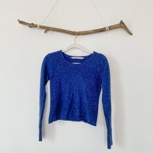 Athleta 100% Cashmere Blue Medium Sweater Top M